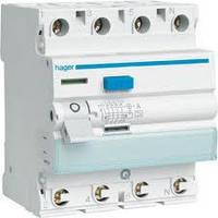 Устройство защитного отключения 40А, 4п, AC, 30мА, УЗО HAGER CD441J
