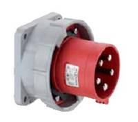 Силовая кабельная вилка 63 А ампер IP44 3P+N+E пять полюсов 400В цена купить силовые промышленные разъемы