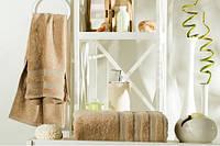 Бамбуковое махровое полотенце 70Х140 (кофейное)