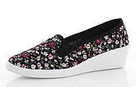 Цветные Женские балетки, лодочки туфли , туфли, на плоской подошве от производителя  на платформе