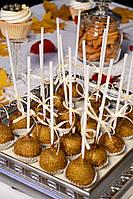 Candy Bar Кейк попс  в золотом цвете