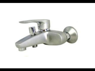 Смеситель для ванны Haiba Hansberg Satin с коротким литым гусаком