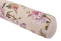 Подушка-валик декоративная с принтом цветы акварелью