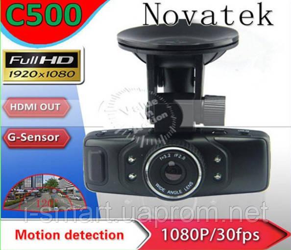 Автомобильный видеорегистратор C500 Novatek Full HD 1080P with G-sensor