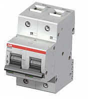 Автоматический выключатель ABB S802B-C80  тип C, 80А 2-х полюсной