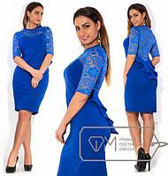 Вечернее платье с гипюровой спинкой, фото 1