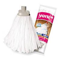 Насадка для швабры МОП синтетическая белая МЕГА, 140 г York Y-078010
