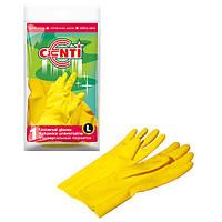 Перчатки резиновые L CENTI York Y-092110