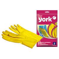 Перчатки резиновые S, 150 x 260 x 10 мм York Y-092030