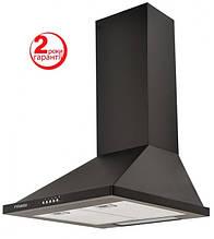 Pyramida KH-60 (600 мм.) цвет черная эмаль, купольная, кухонная вытяжка