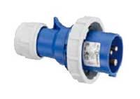 Силовая кабельная вилка 16 А ампер IP67 2P+E три полюса 230В цена купить силовые промышленные разъемы