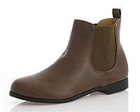 Ботинки женские коричневого цвета