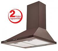 Pyramida KH-60 (600 мм.) цвет коричневая эмаль, купольная, кухонная вытяжка, фото 1