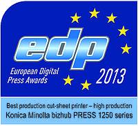 Оборудование серии bizhub PRESS 1250 компании Konica Minolta удостоено престижной награды EDP Award
