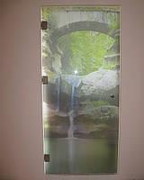 Двери из стекла с фотопечптью. Заказать. Киев.