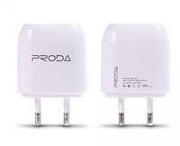 Сетевое зарядное Proda Flat RP-U21 2USB 2.1A