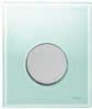 Панель смыва  для писсуара ТЕСЕloop из зеленого стекла, фото 1