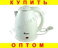 Электро чайник Domotec пластик с металлической колбой