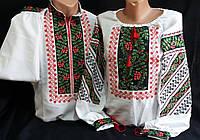 """Вышиванка мужская и женская (пара)  """"Калиновая симфония"""" домотканка ,  42-54  ,1900"""