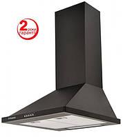 Pyramida KH-50 (500 мм.) цвет черная эмаль, купольная, кухонная вытяжка, фото 1