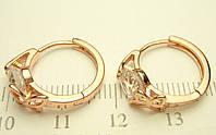 75 грн Позолоченные серьги с кристалами и бабочками колечки BG21 - (кольца, барслеты,цепочки, серьги,украшения,подарки)