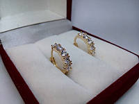 75 грн Позолочені сережки кільця BG38 - (кільця, барслеты,ланцюжки, сережки,прикраси,подарунки)