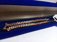 109 грн Позолочений позолота браслет BG17 20 см - (кільця, барслеты,ланцюжки, сережки,прикраси,подарунки)