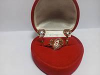 105 грн кільце Позолочене серце позолота з цирконієм BG19 - (кільця, барслеты,ланцюжки, сережки,прикраси,подарунки)