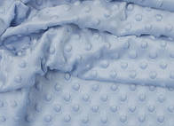 Лоскут ткани minky М-7 цвет голубой