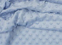 Отрез ткани minky М-7 размером 40*40 см, цвет голубой