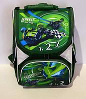 """Ортопедический ранец  для мальчика Tiger 2801s """"Мотоцикл"""" зеленый"""
