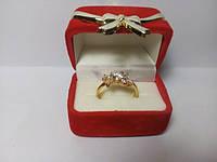 119 грн Ювелирный сплав кольцо с узором из кристалов  BG51  - (бижутерия украшения напыление золото)