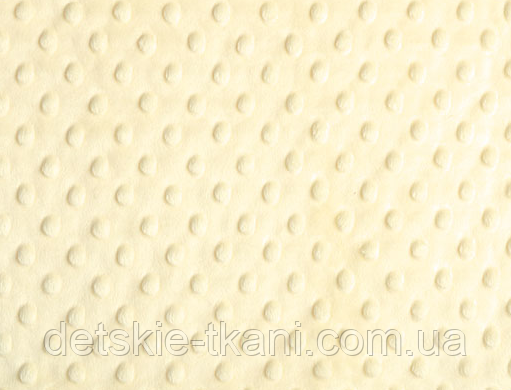 Лоскут ткани minky М-8  кремового цвета
