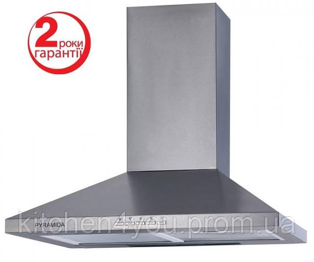 Pyramida TK-60 (600 мм.) цвет полированная нержавеющая сталь, купольная, кухонная вытяжка