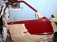 Двери правые передние 1105.6100026 Б/У ЗАЗ-1103 Славута. Дверь пикап ЗАЗ-11055 пассажирская, с петлями красная
