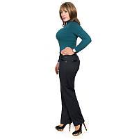 Женские брюки из плотной стрейчевой ткани