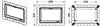 Монтажная рамка ТЕСЕ  хром глянцевый