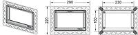 Монтажная рамка ТЕСЕ  хром глянцевый, фото 1