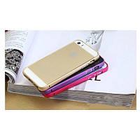 Металлический алюминиевый ультратонкий малиновый бампер для Iphone 5/5S/5SE