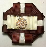 """Брошь-галстук """"Леди"""" цвет коричневый"""