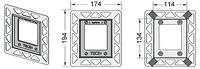 Монтажная рамка TECE позолоченная