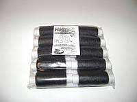 Нитки швейные особопрочные, армированные №20 черные. упаковка 10 штук.