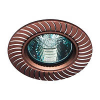 Точечный встраиваемый светильник Feron GS-M392 MR16 коричневый