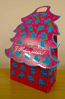 Новогодняя упаковка из картона Коты 800г., фото 1