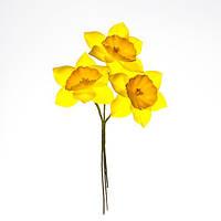 Нарциссы из ткани Желтые, 40 мм, 3 шт