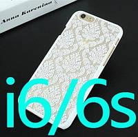 Стильный белый пластиковый чехол с принтом для Iphone 6/6S