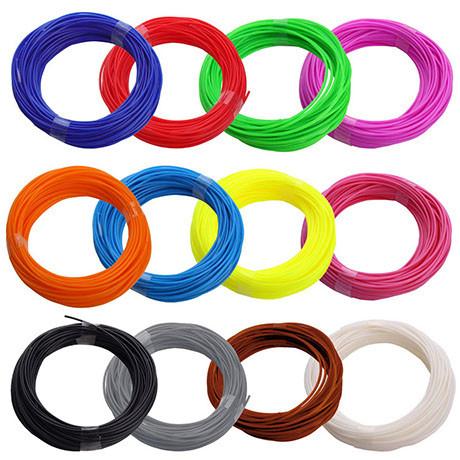 Набор ABS пластика 120 метров для 3д ручек 12 цветов по 10 метров