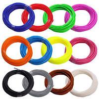 Набор ABS пластика 120 метров для 3д ручек 12 цветов по 10 метров, фото 1