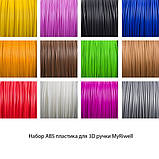Набор ABS пластика 120 метров для 3д ручек 12 цветов по 10 метров, фото 2