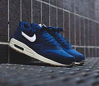 Кроссовки мужские Nike Air Max 1 Essential Midnight Navy/Gum (найк аир макс 87) синие
